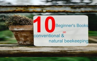 10 beginners books on conventional and natural beekeeping